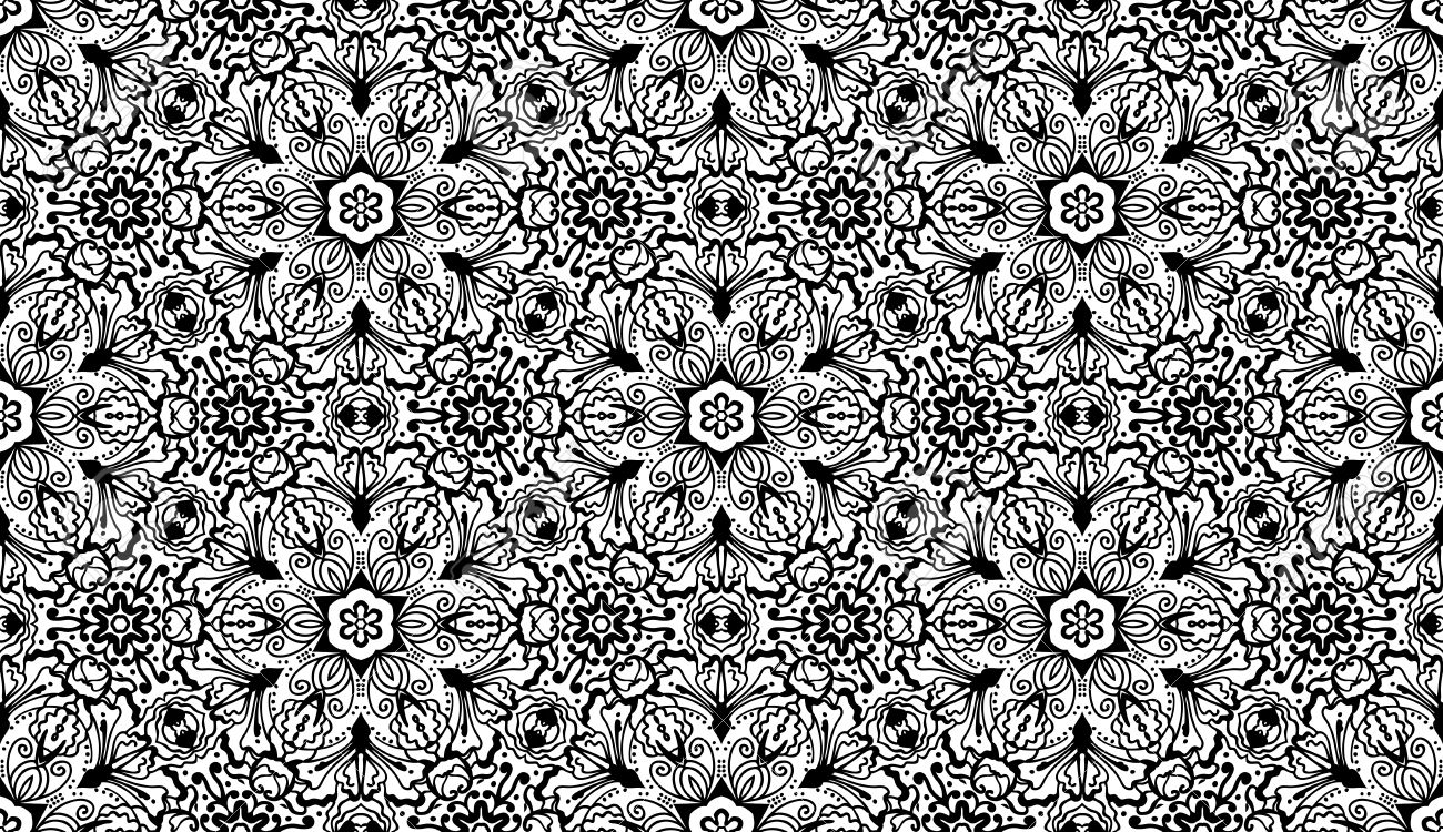 Vintage Vector Sin Fisuras Patron Floral Zentangle Wallpaper