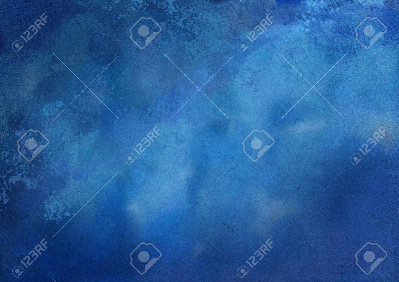 Abstract dark blue watercolor textured artistic background Stock Photo - 47066044