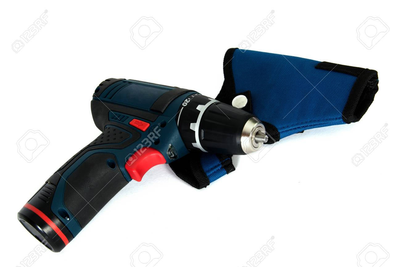 Cordless power tools with case, isolated on a white background Stock Photo - 10262535