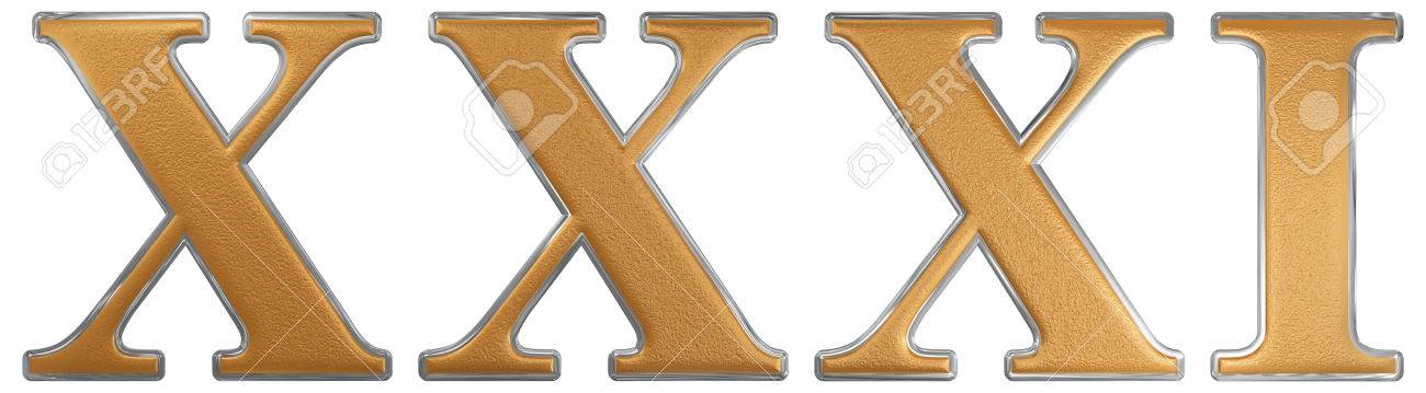 Número Romano Xxxi Unus Et Triginta 31 Treinta Y Uno Aislado