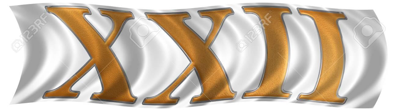 No Vento Que Agita A Bandeira Com O Número Romano Xxii Duo Et