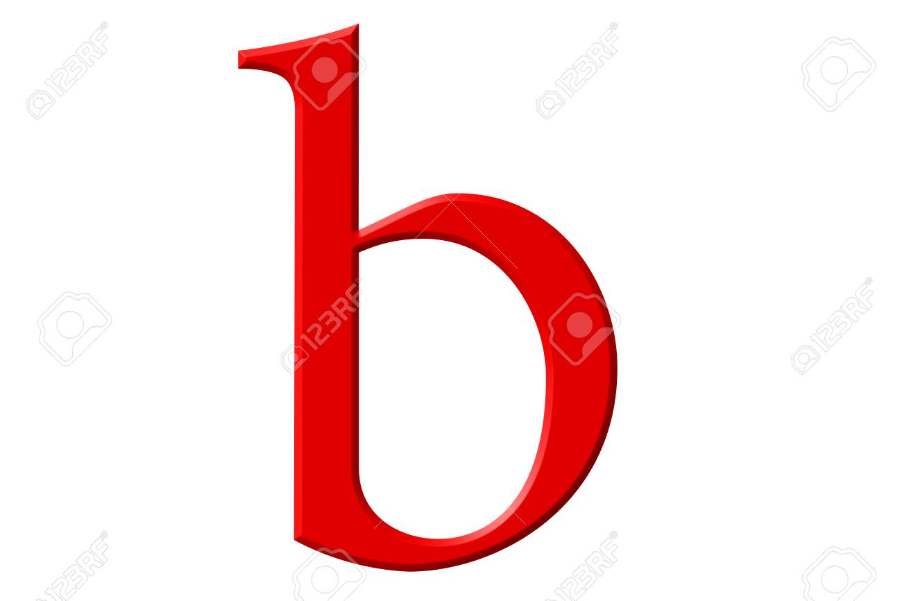 Lowercase Letter B Isolated On White With Clipping Path 3d