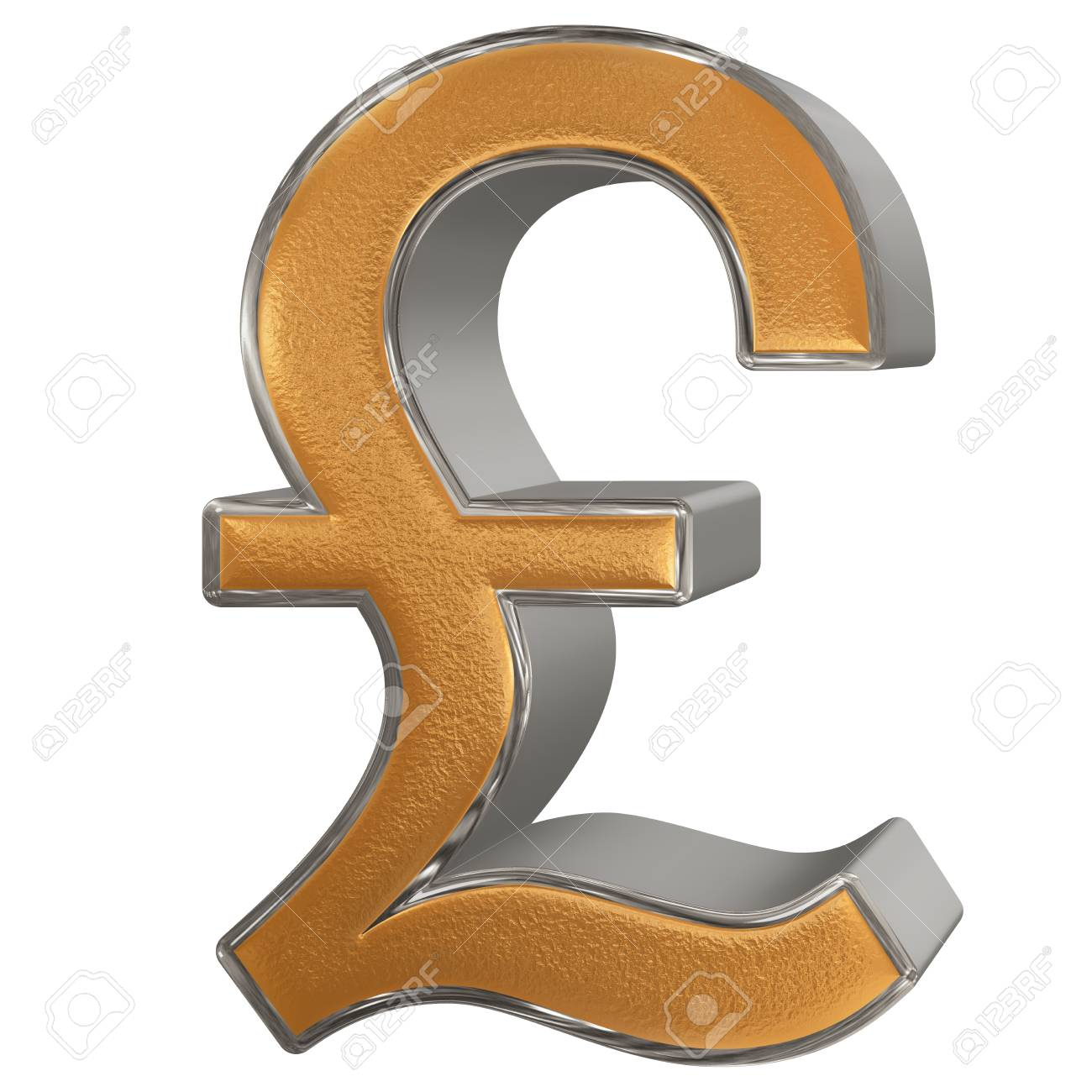 Symbol of british pound sterling isolated on white background symbol of british pound sterling isolated on white background 3d illustration stock illustration biocorpaavc Gallery