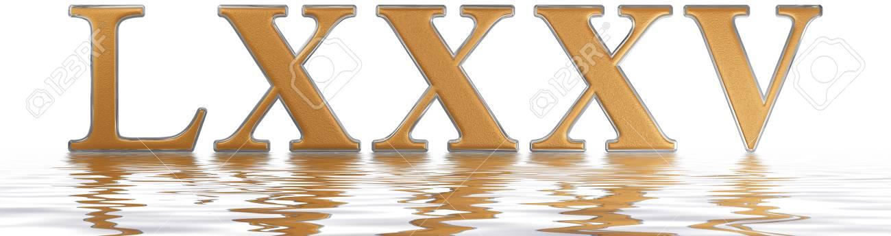Número Romano Lxxxv Quinque Et Octoginta 85 Ochenta Y Cinco
