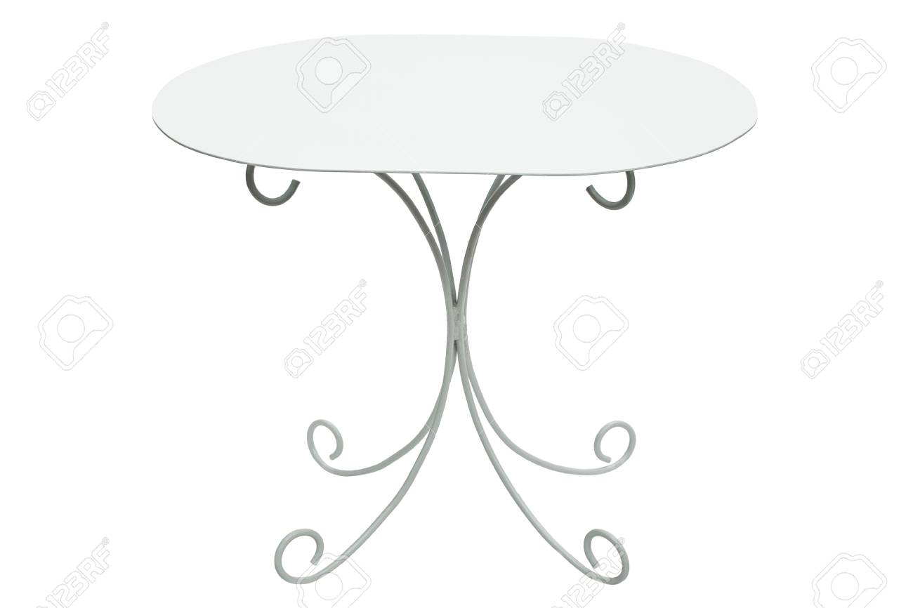 Table Basse Ronde Blanche Isolee Sur Fond Blanc