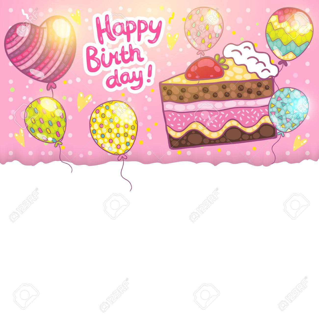 happy birthday card background cake vector holiday party happy birthday card background cake vector holiday party template stock vector 27623811