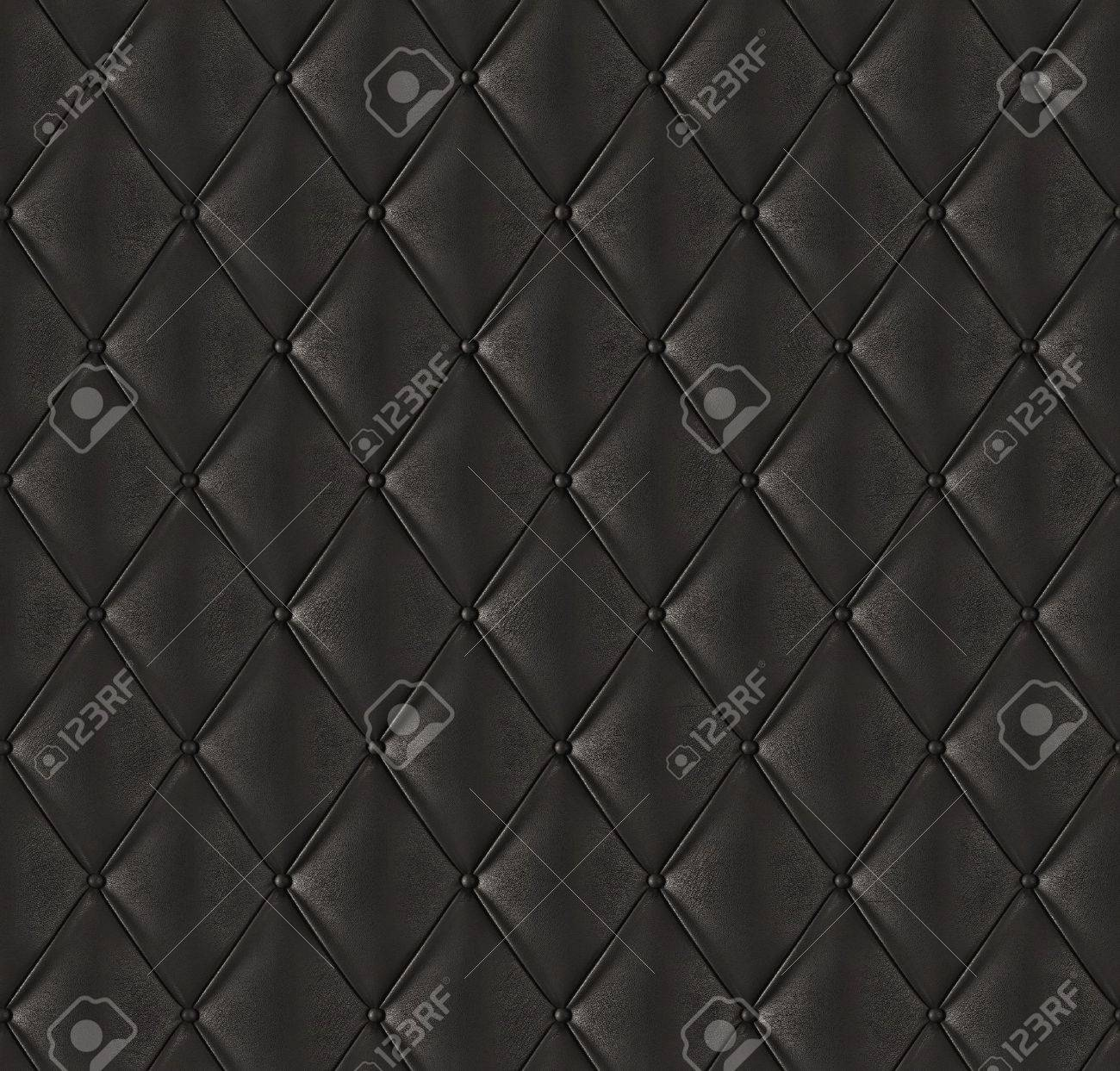Black Quilted Wallpaper Black quilted leather