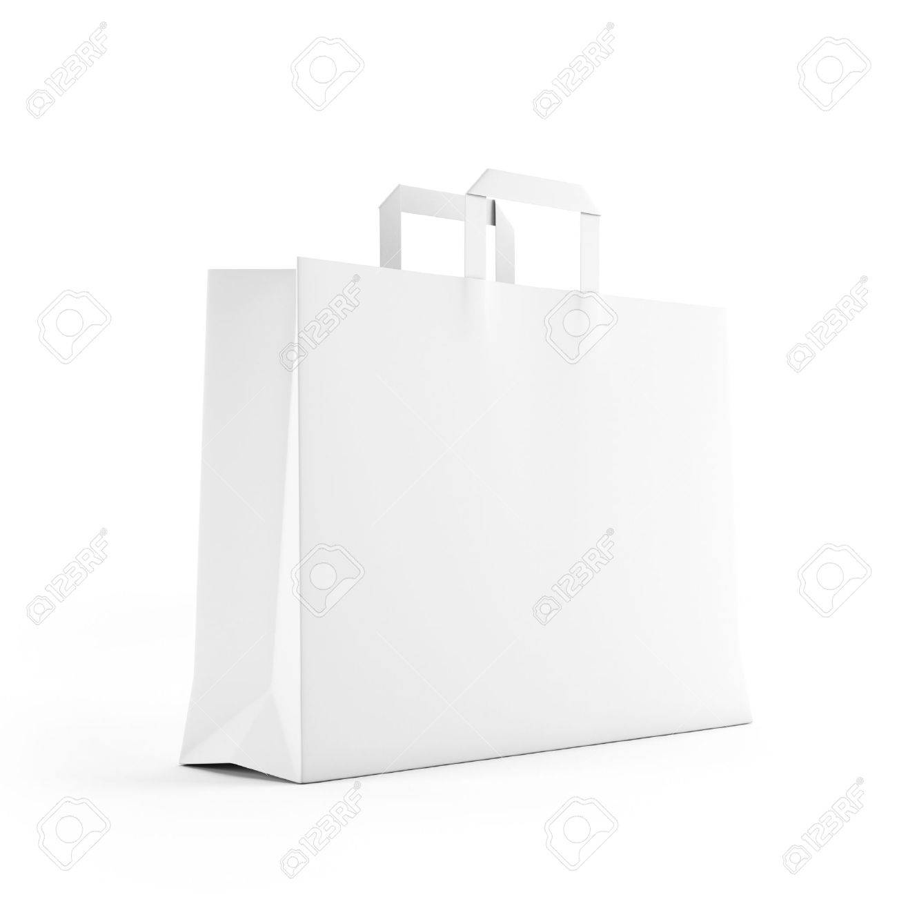 Big white paper bag isolated on white Stock Photo - 16318052