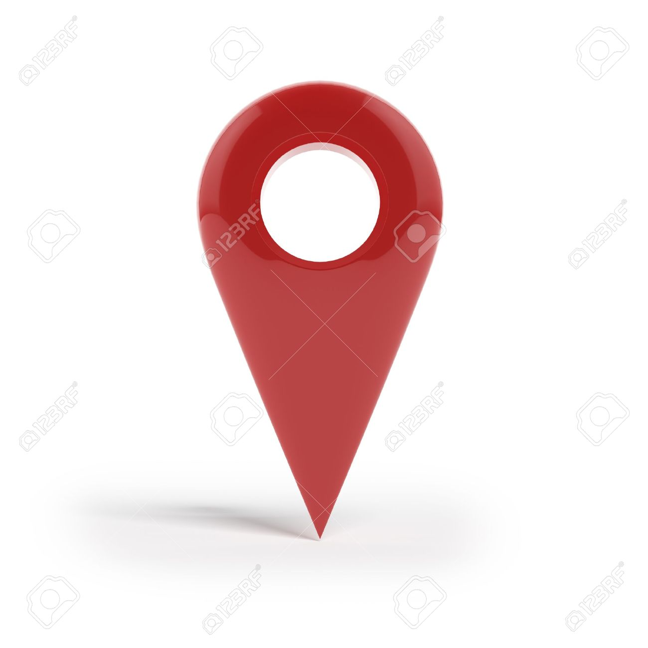 Shiny gloss red Map pointer icon Stock Photo - 16440666