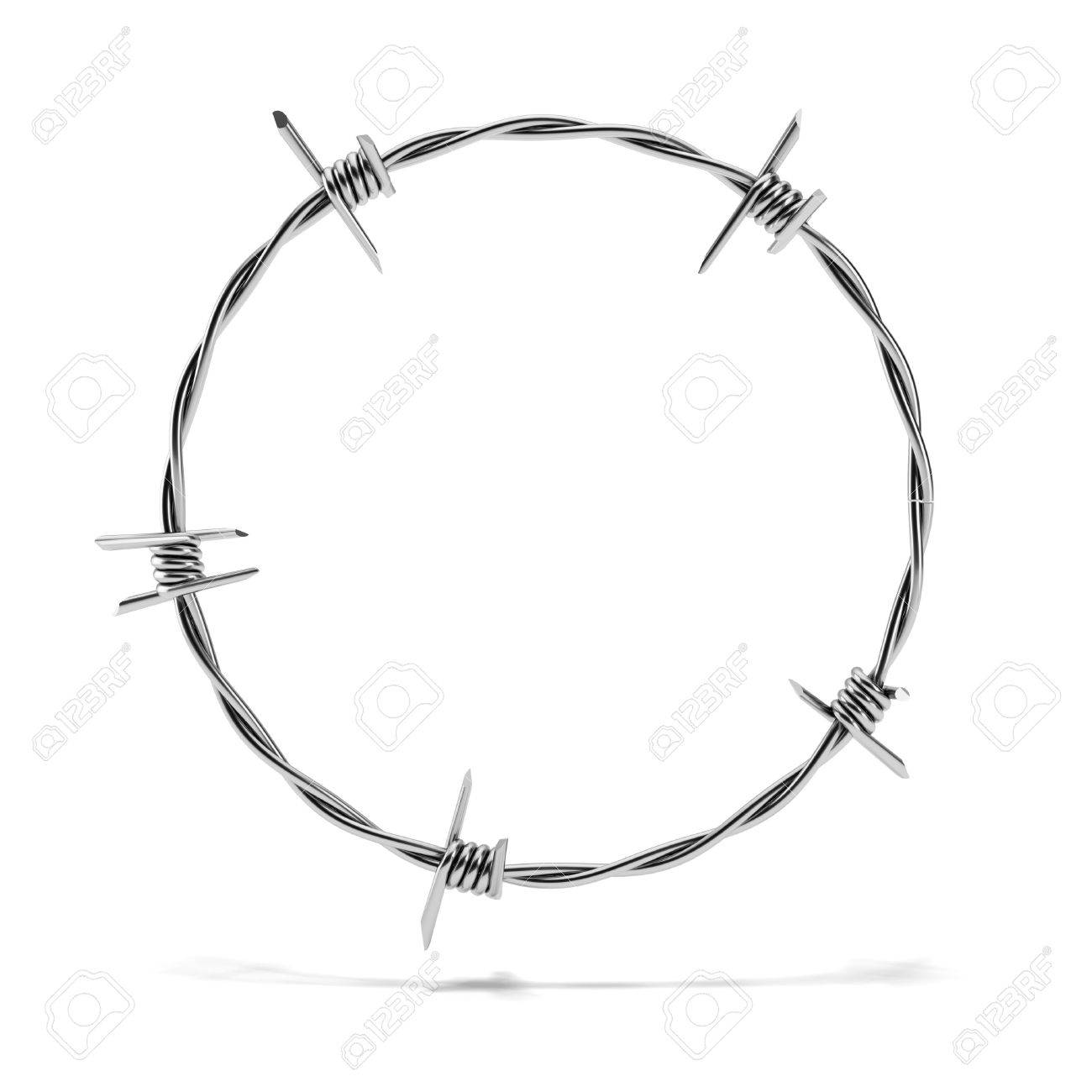 Barbed Wire Circle Stock Photo, Picture And Royalty Free Image ...