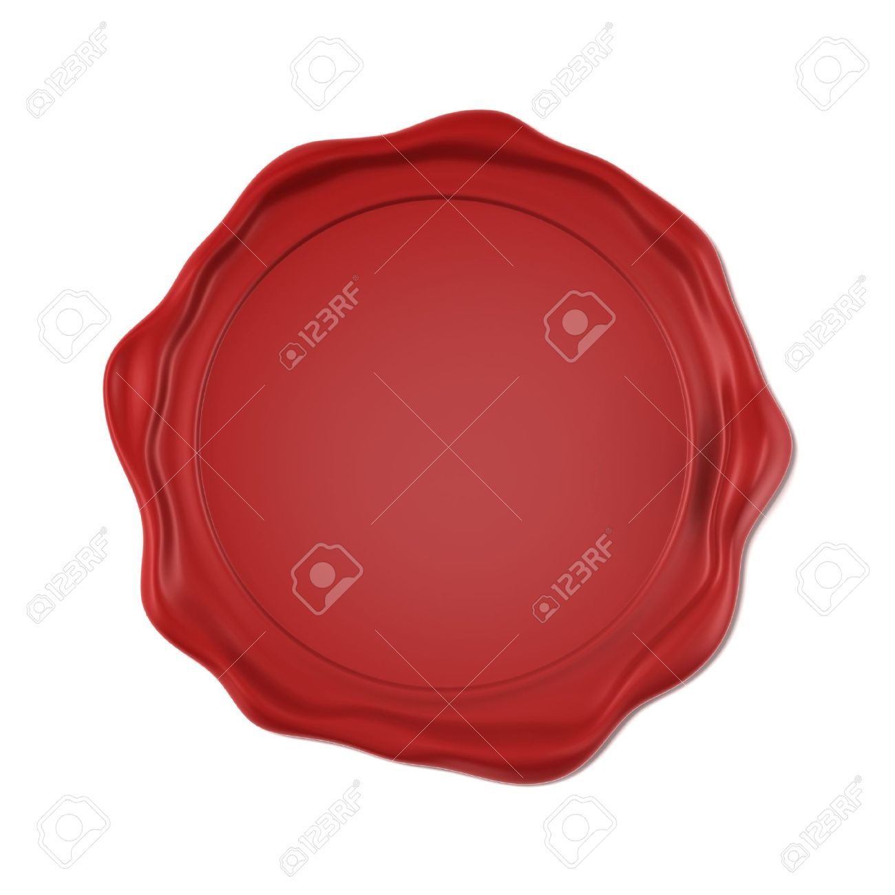 Red wax seal Stock Photo - 16557492