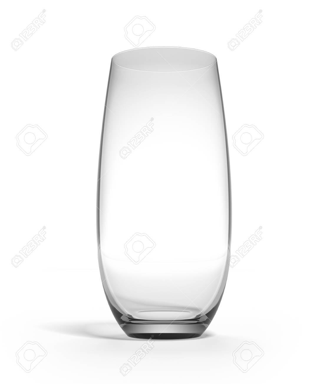 Empty glass isolated on a white background Stock Photo - 17082058