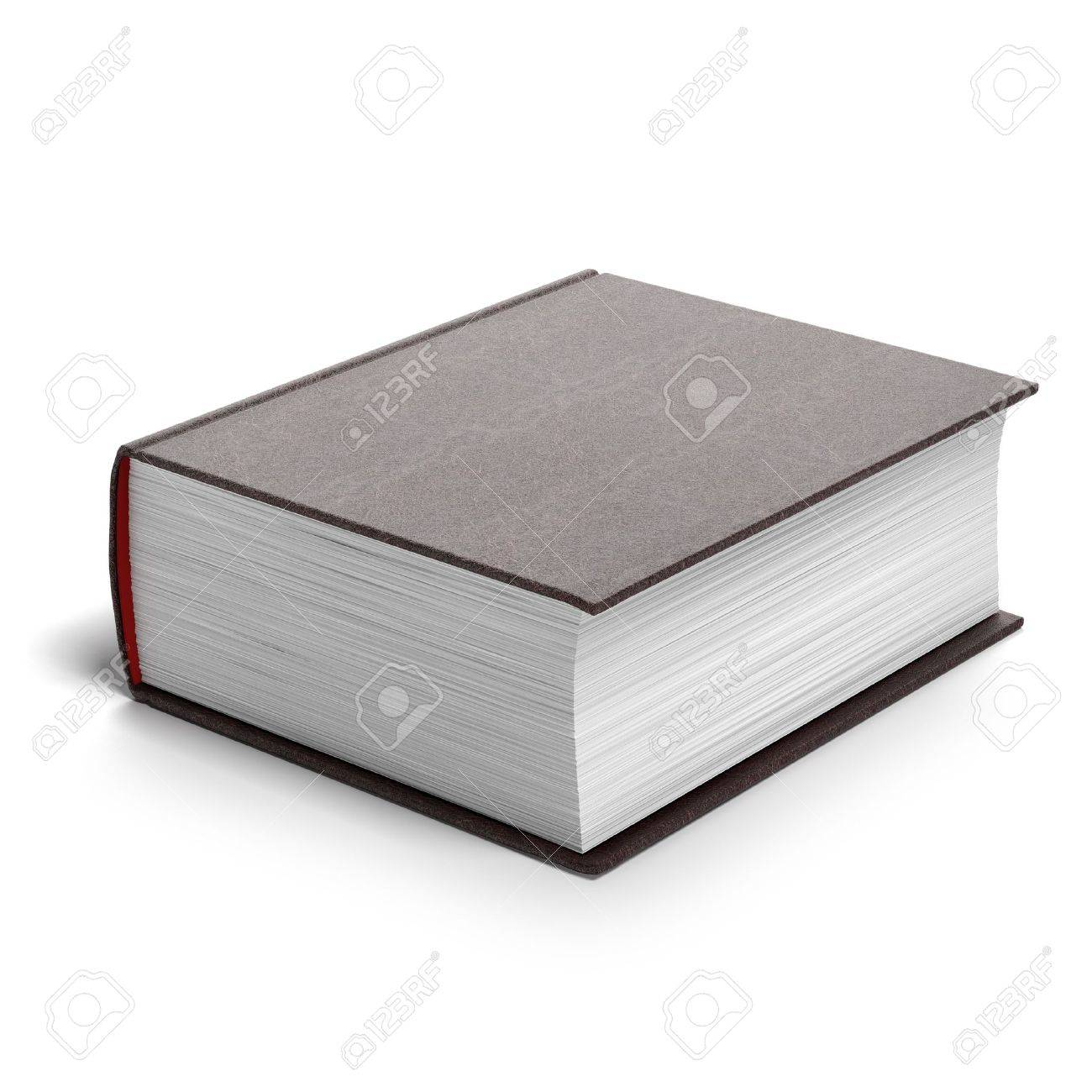 Thick red book isolated on a white background - 17125696