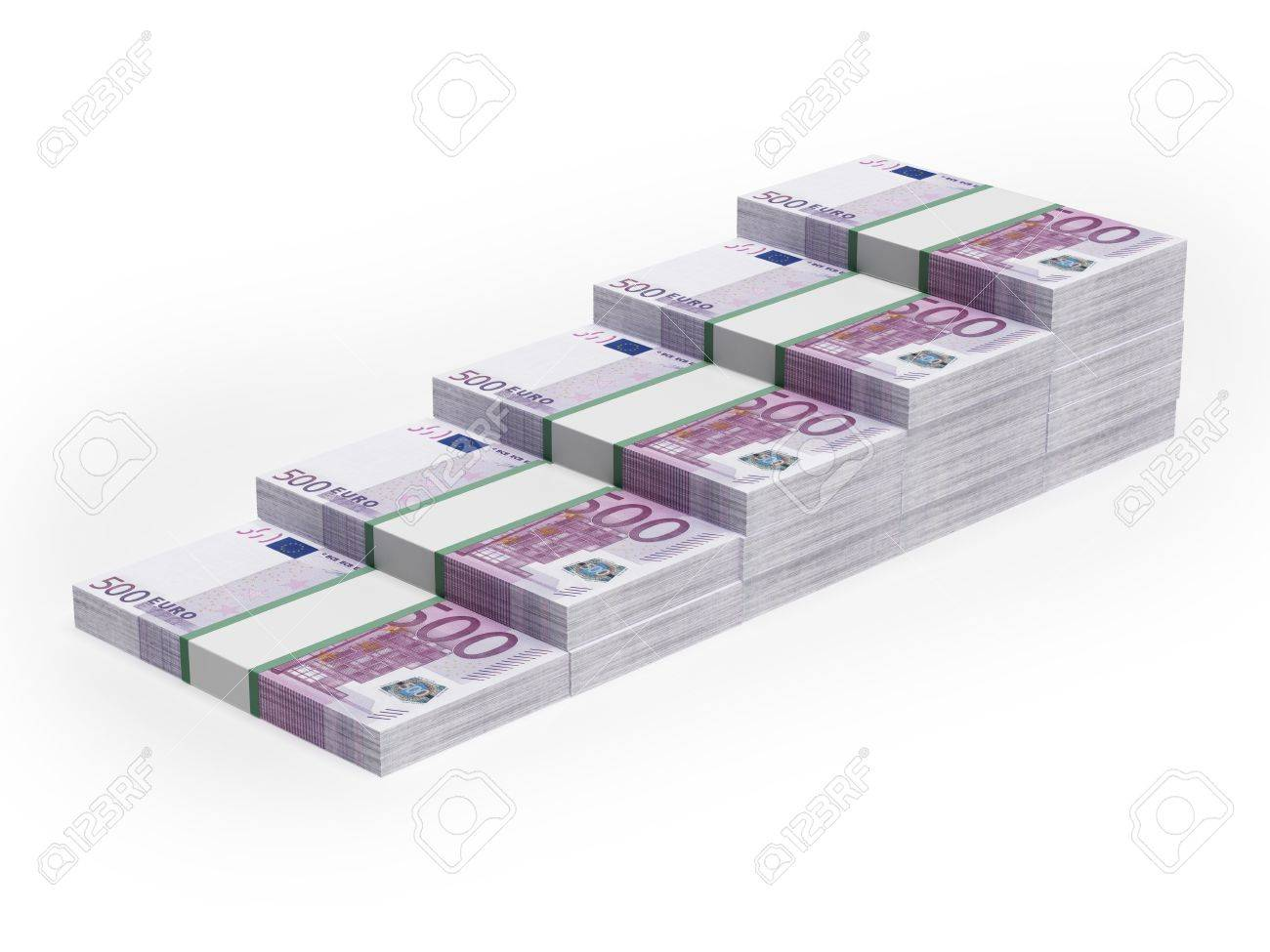 Bar chart from different Euro banknotes Stock Photo - 17970765