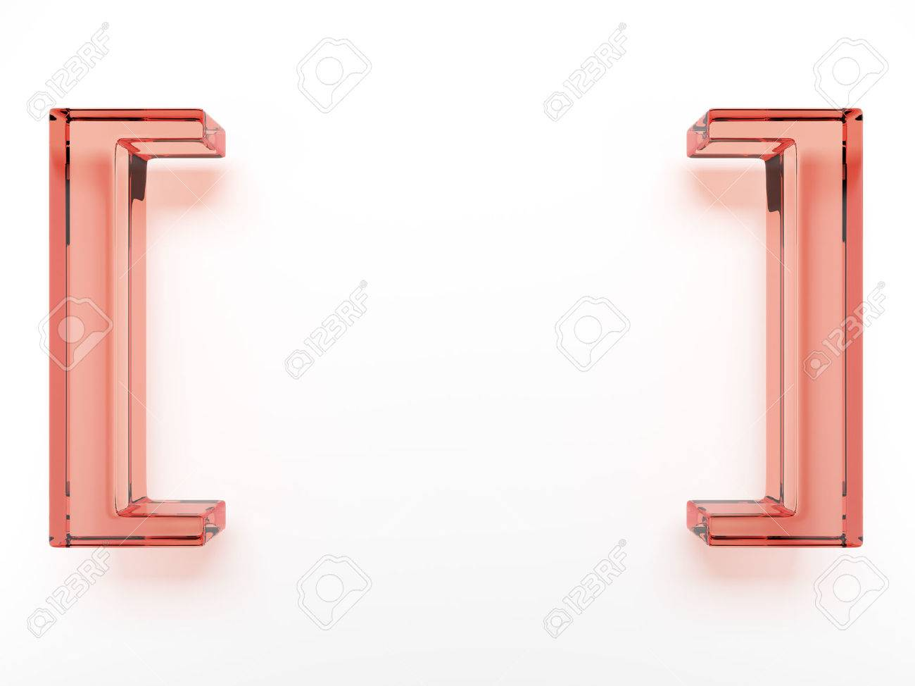 Spelling glass brackets  isolated on a white background Stock Photo - 22401662