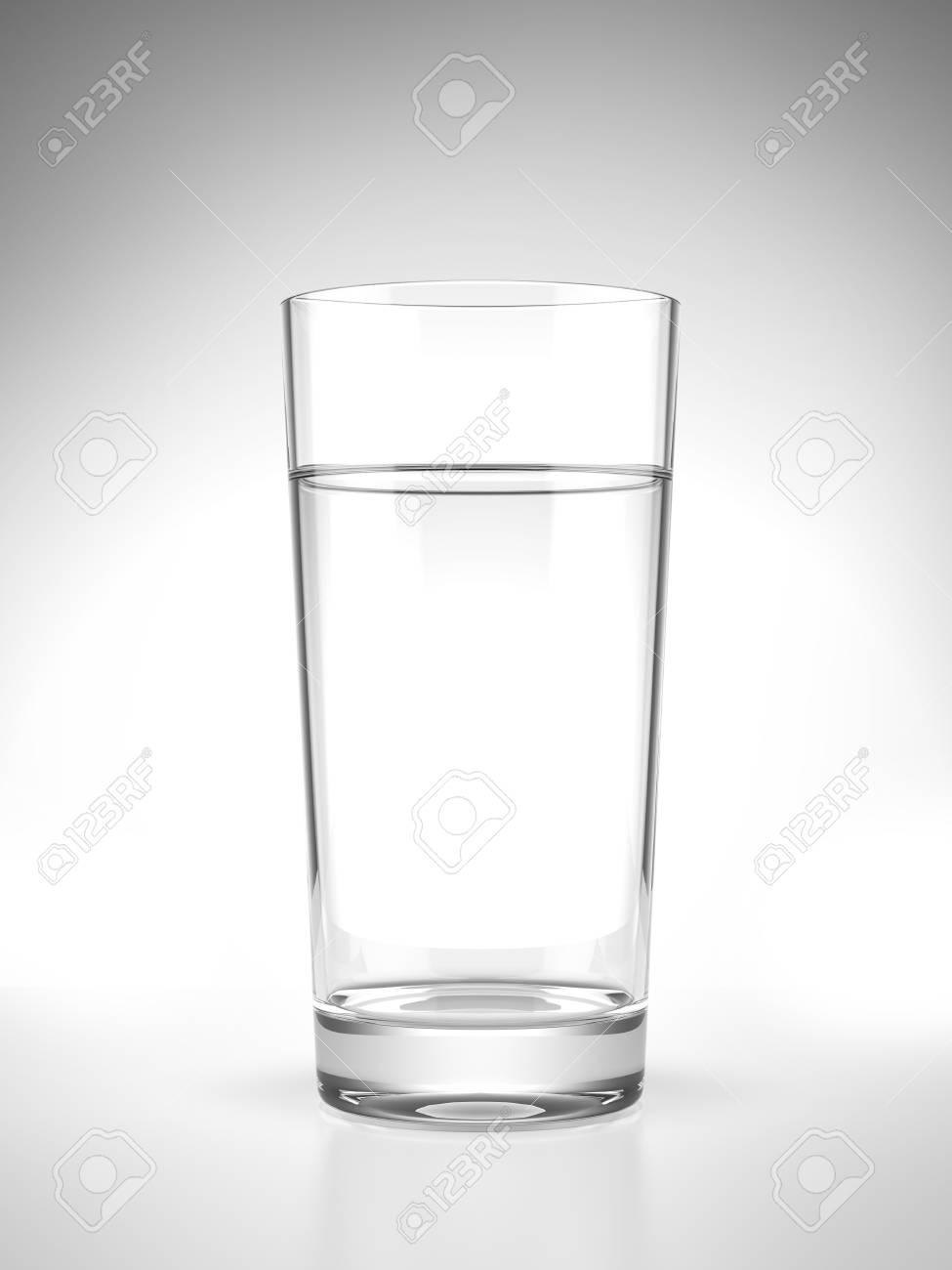 Glass of water  isolated on a white background Stock Photo - 22401679