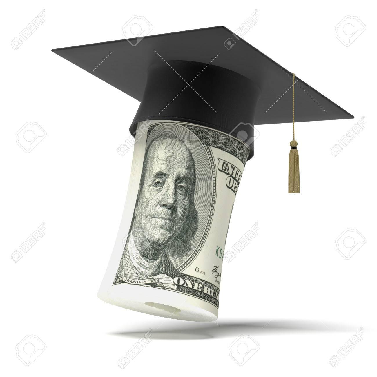 Education dollar isolated on a white background Stock Photo - 22403148
