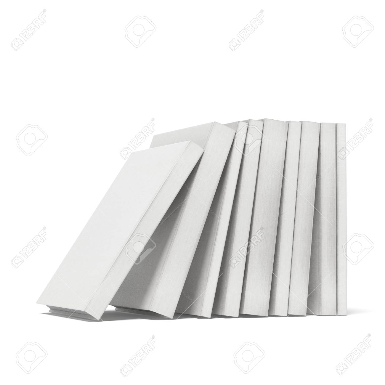 white books  isolated on a white background Stock Photo - 22403415