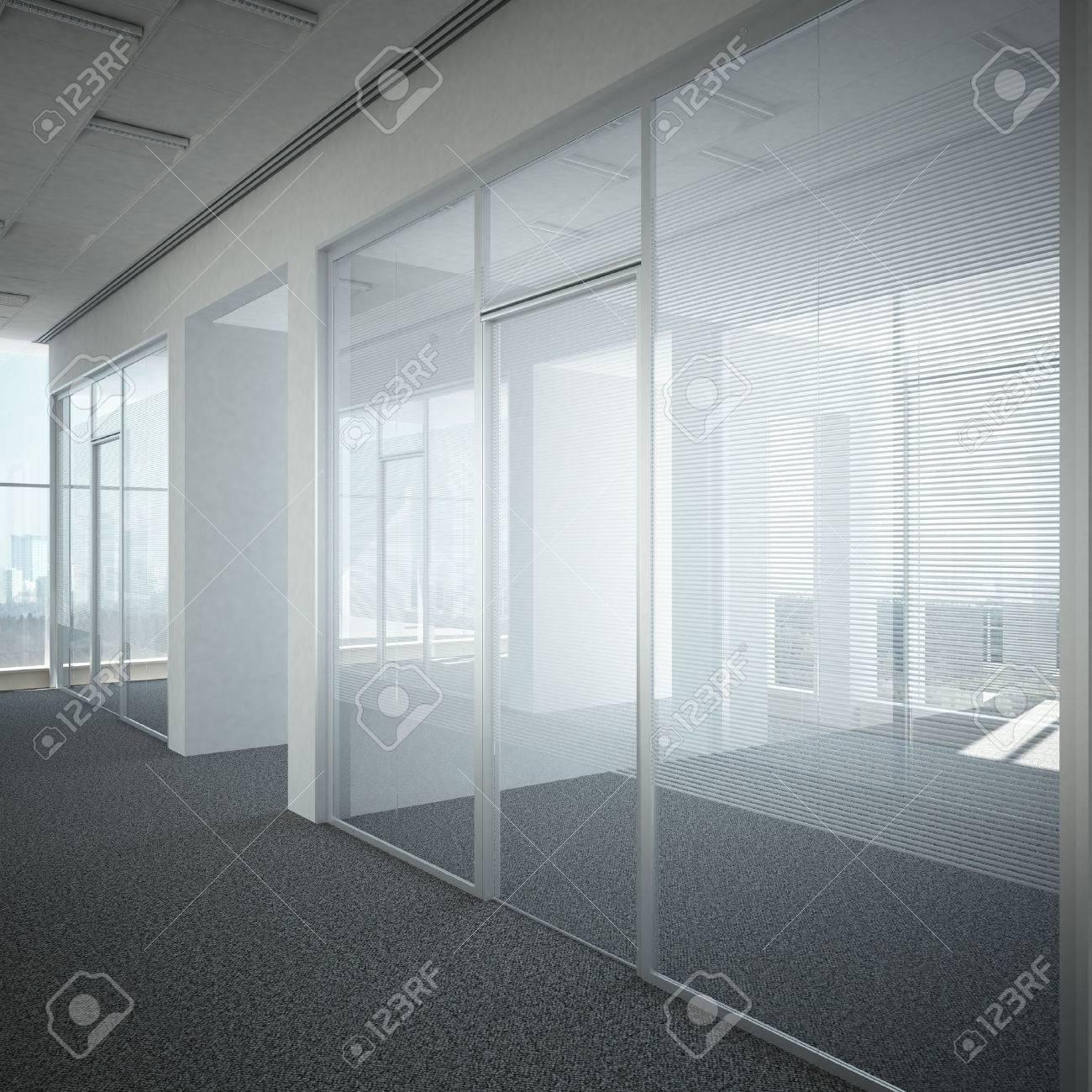office corridor door glass. Office Corridor Door Glass 3d Render Stock Photo - 22403498 I