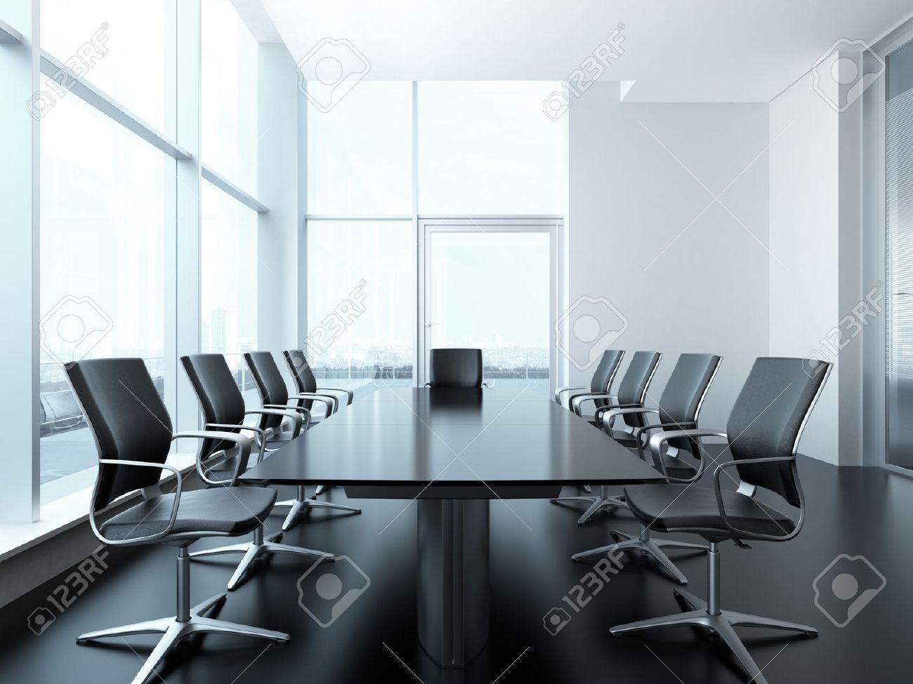 meeting room interior. 3d render scene - 22403506