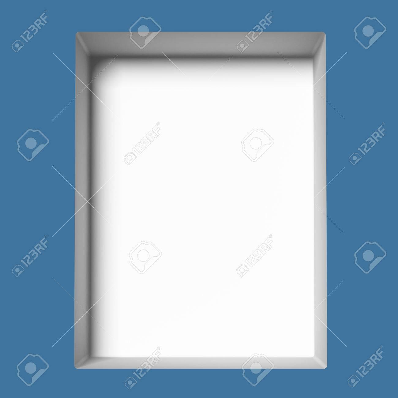 single blue empty showcase. 3d render Stock Photo - 22403619