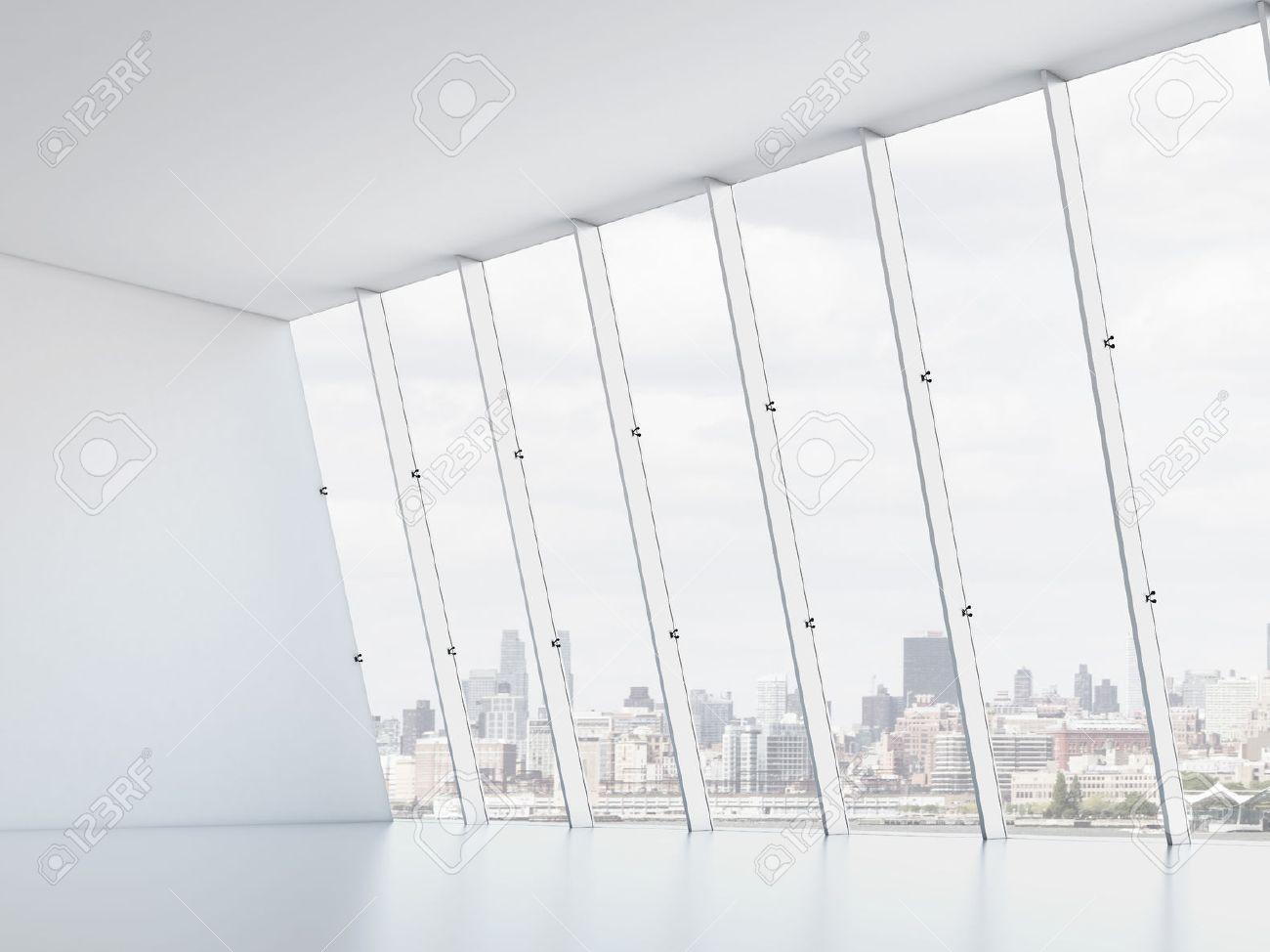 Interior office windows - Office Interior With Windows 3d Render Stock Photo 22489465