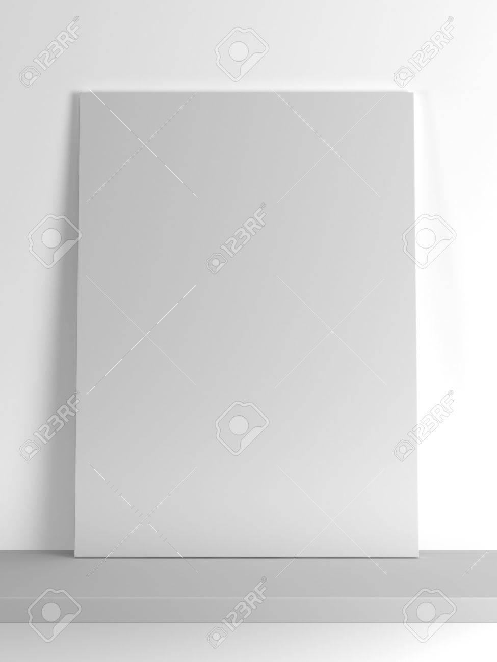 Leere Papier Rahmen Auf Dem Regal Auf Einem Weißen Hintergrund. 3d ...
