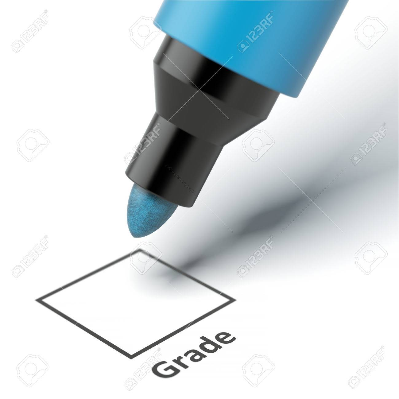 good grade images stock pictures royalty good grade photos good grade grade box on an exam paper isolated on a white background 3d