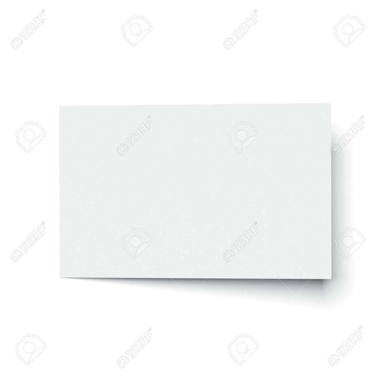 Blank Business Card Isolated On A White Background. 3d Render Stock ...