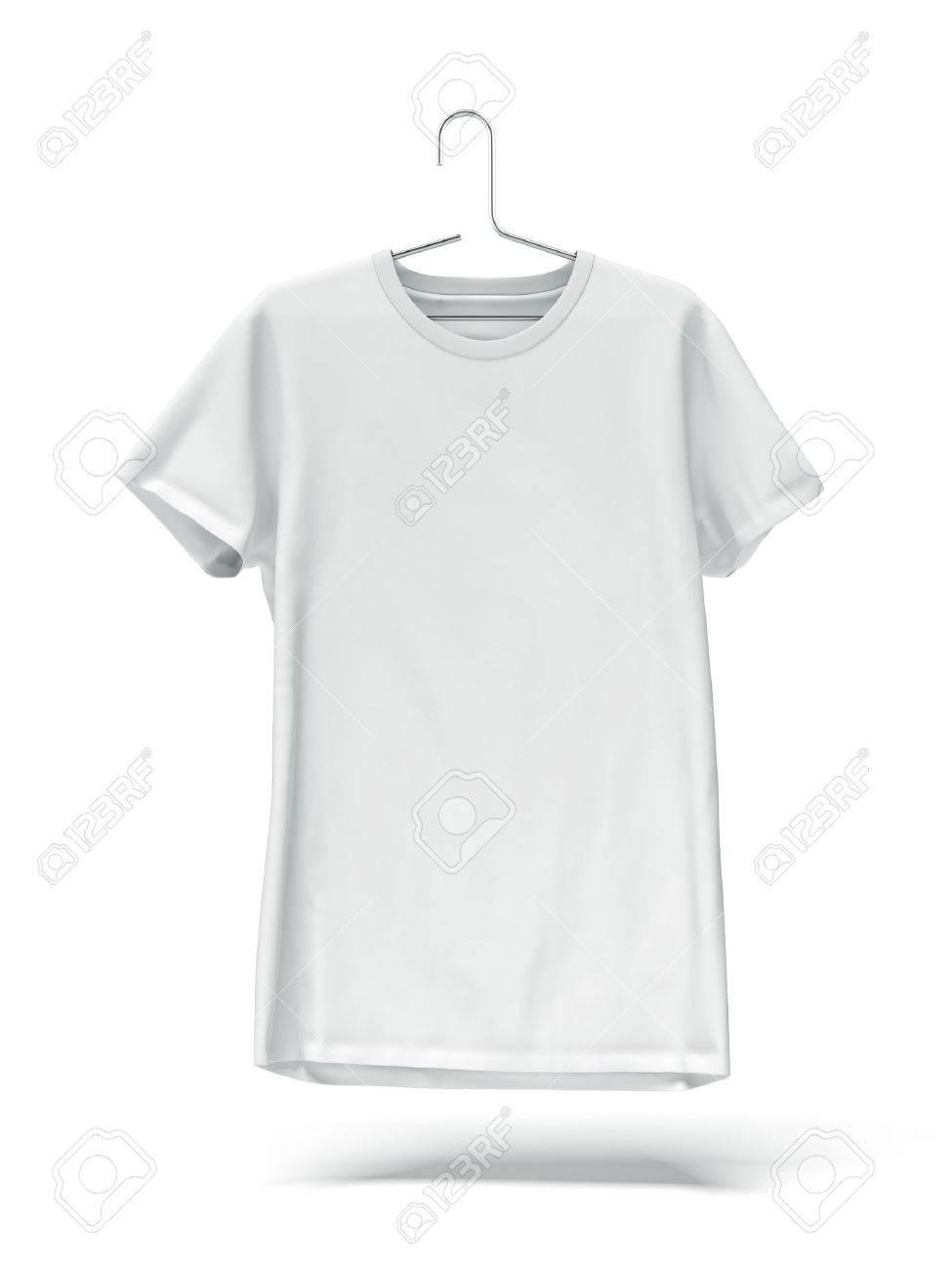 white tee shirt on hanger