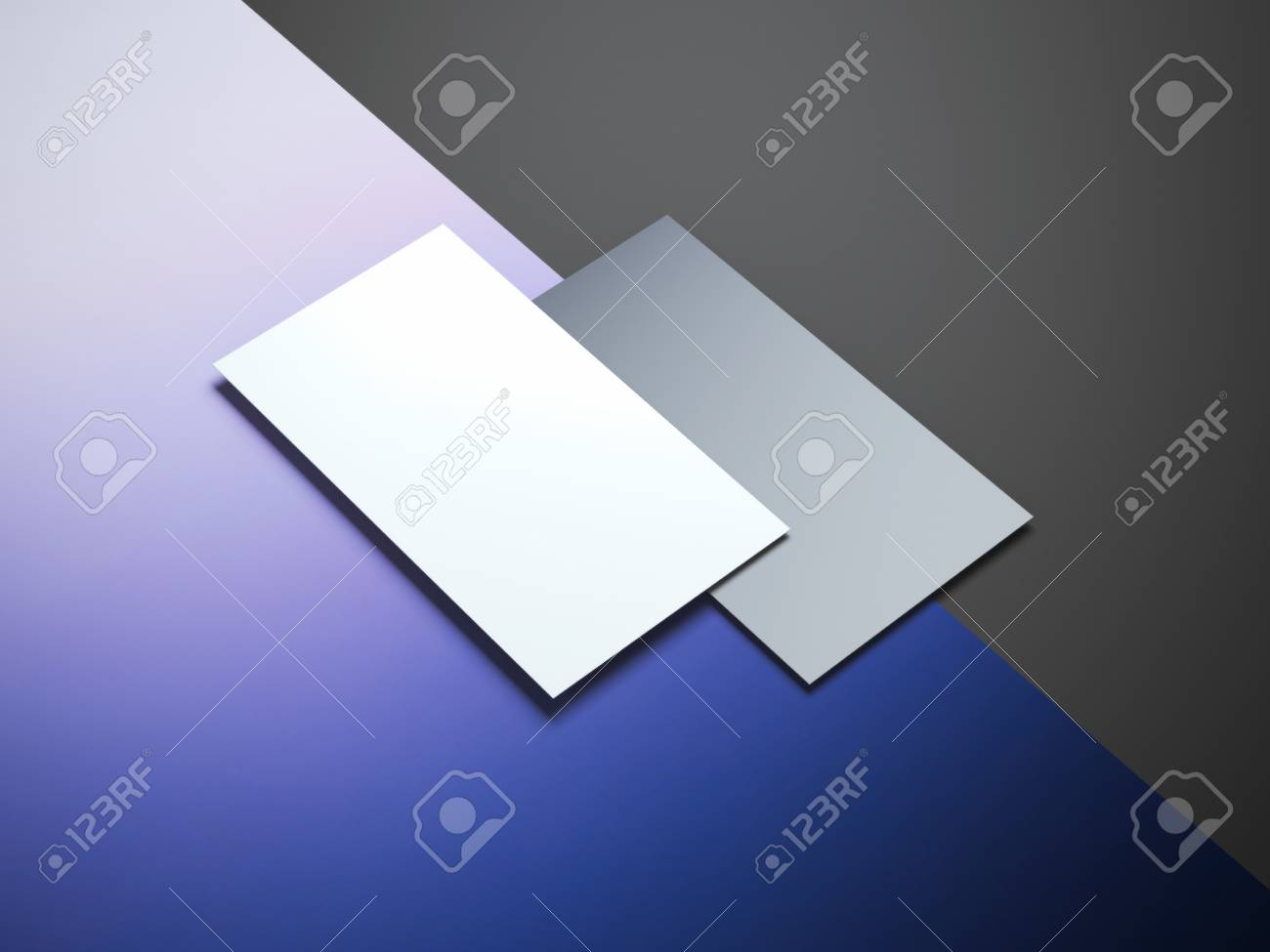 Two different business cards on a color surface stock photo picture stock photo two different business cards on a color surface reheart Choice Image