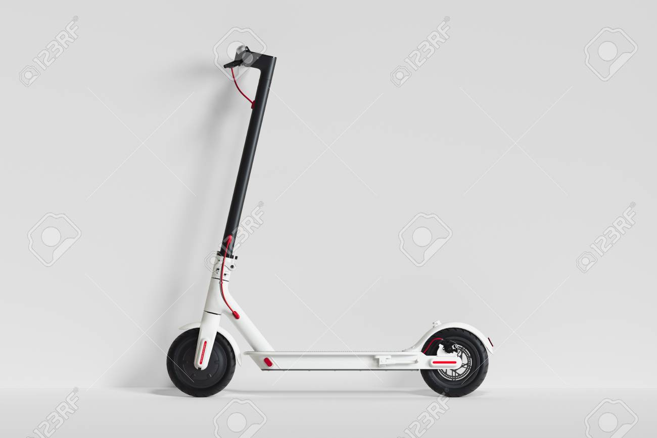 Electric scooter isolated on white background. eco transport. 3d rendering - 117814171