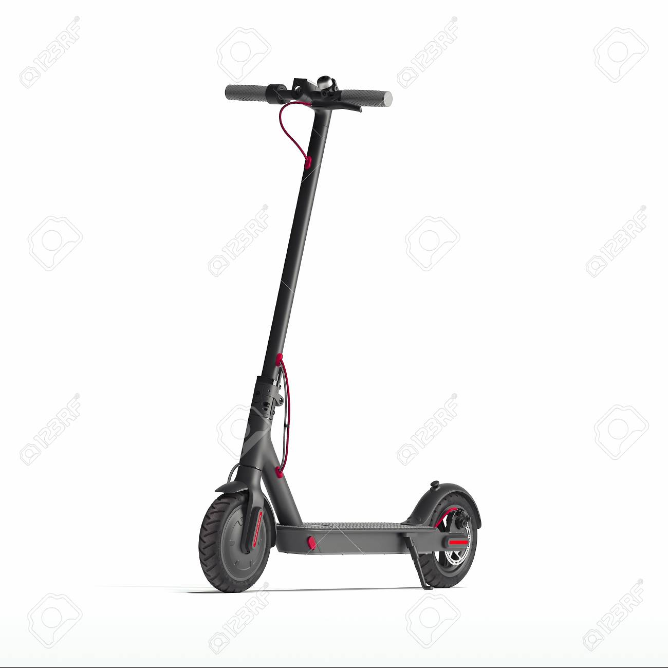 Electric scooter isolated on white background. eco transport. 3d rendering - 117814173