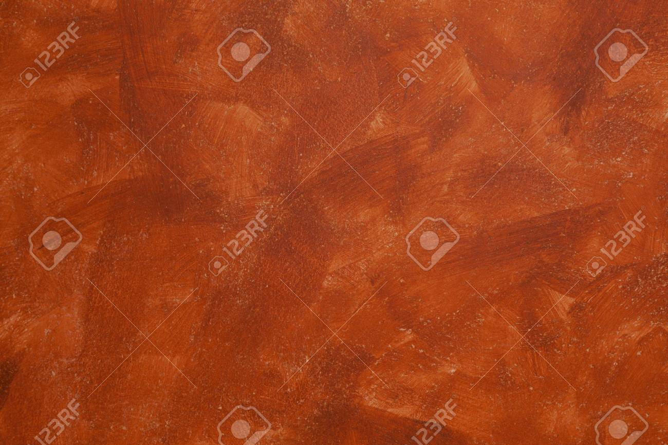 Orange Wall Painting Made With Sponge