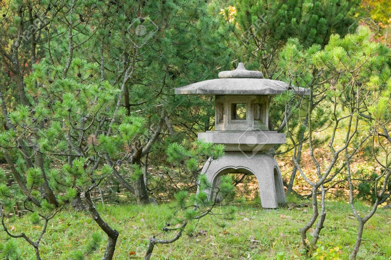 Stone Lantern In Japanese Garden Stock Photo Picture And Royalty Free Image Image 10866014