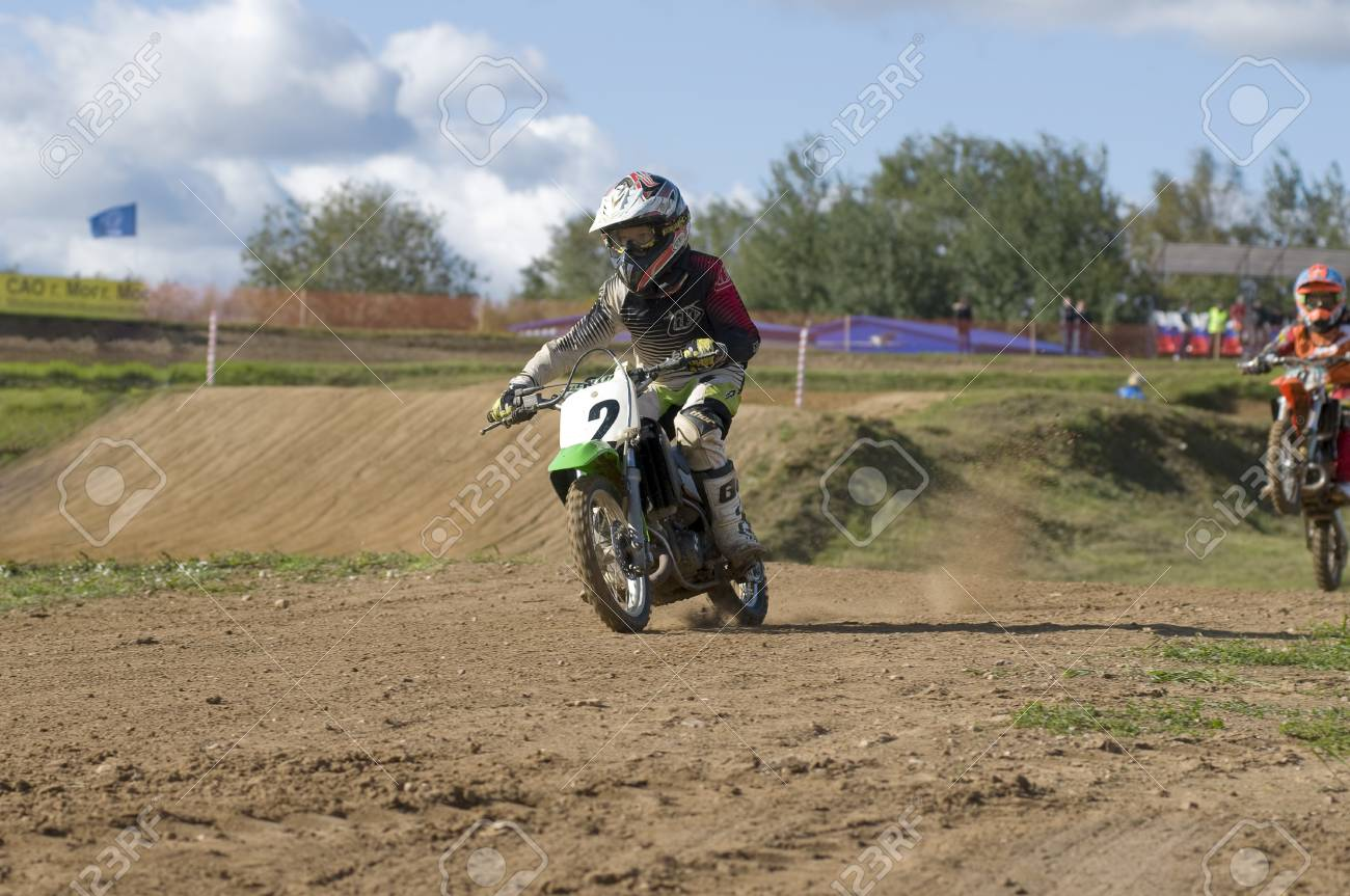 MOSCOW-SEPTEMBER 8: Ilya Kolchugin (Istra) in the Stage III Cup XSR-MOTO.RU Cross Country in Moscow, Sheremetyevo, motostadion  Stock Photo - 15293742