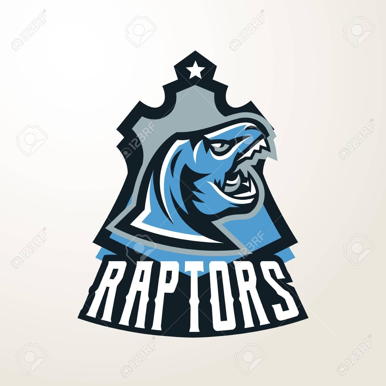 Emblem sticker badge dinosaur head logo predator jurassic a dangerous beast