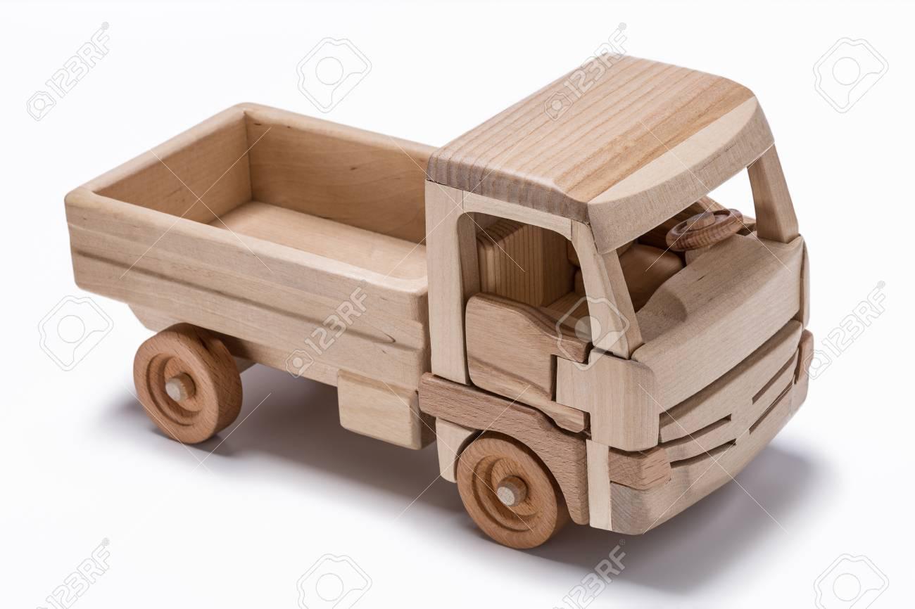 De Juguete Natural Camión Hecho Madera 92IDWEH