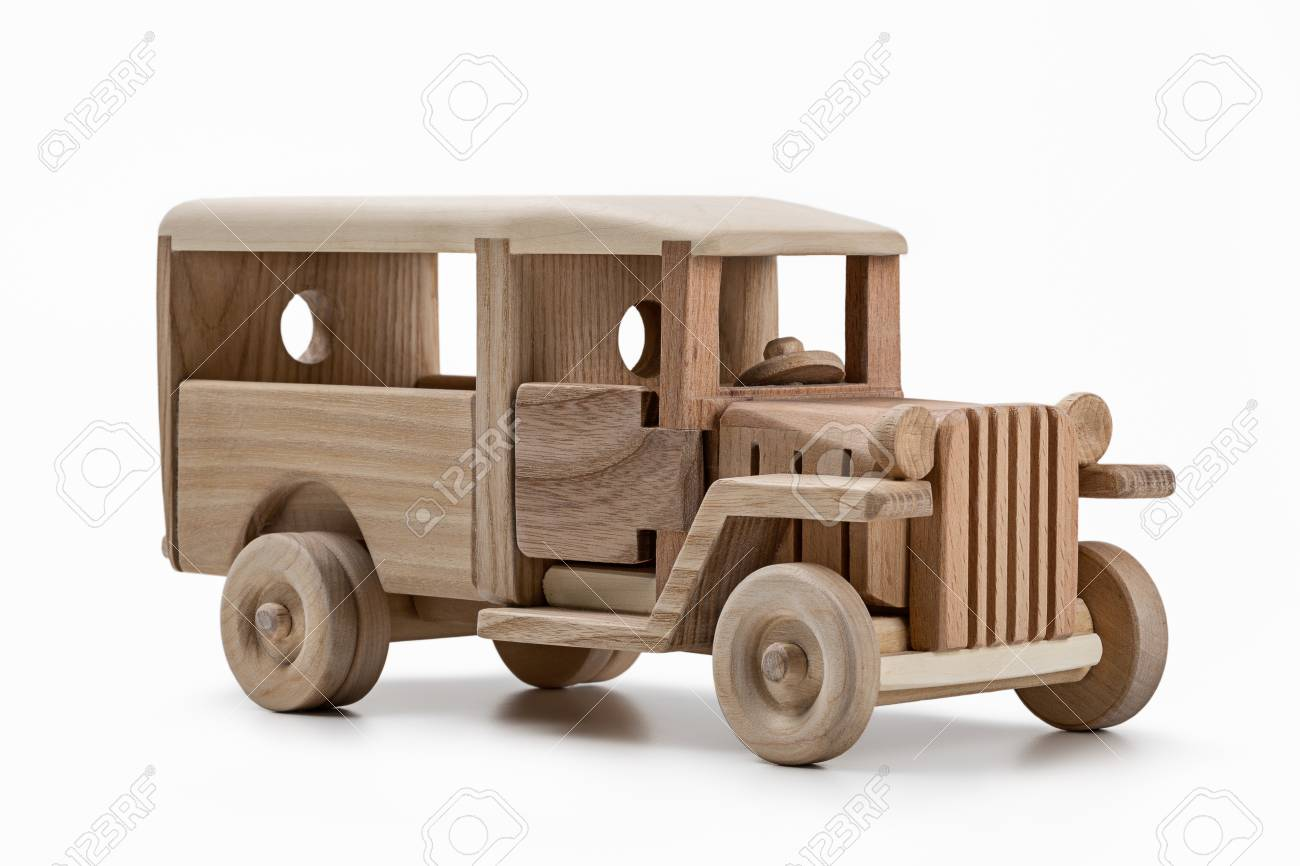 Carros Modelo De Autobus Juguetes Hechos De Madera Fotos Retratos