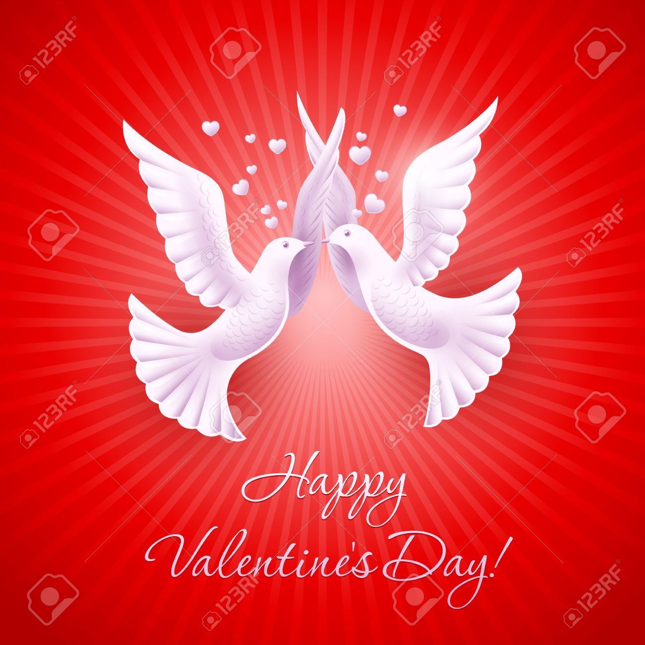 Two Lovers Dove Background On Valentine S Day Royalty Free Cliparts