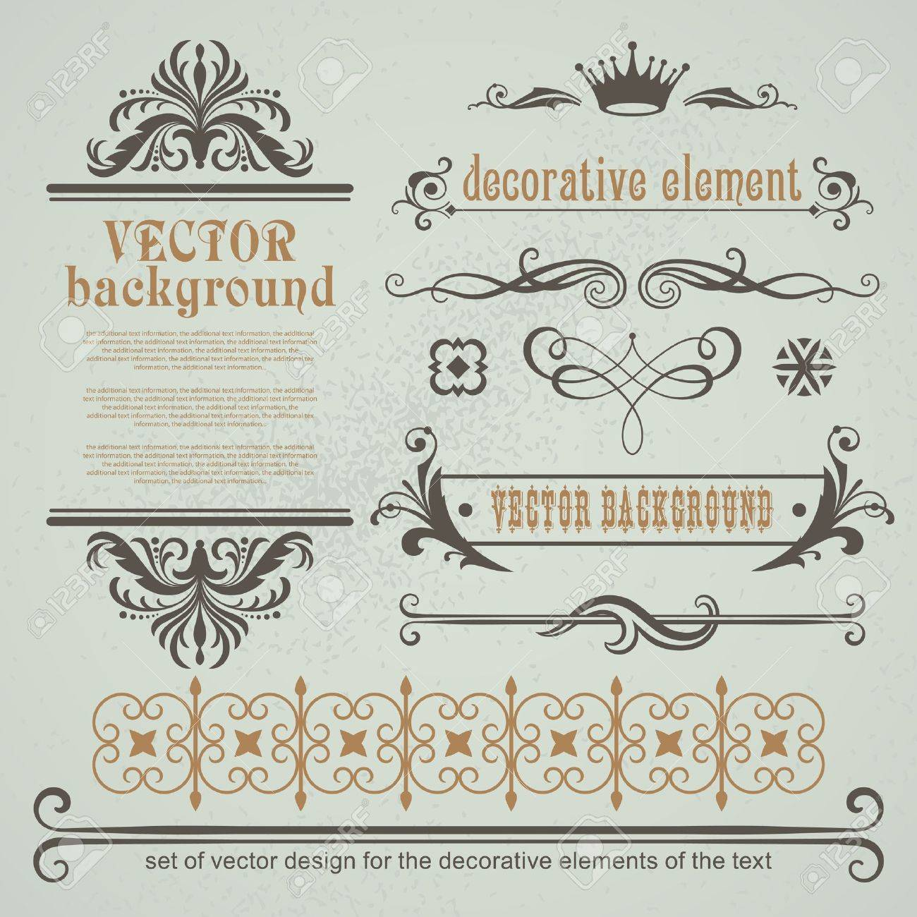 Vector set decorative elements for page layout Stock Vector - 13735178