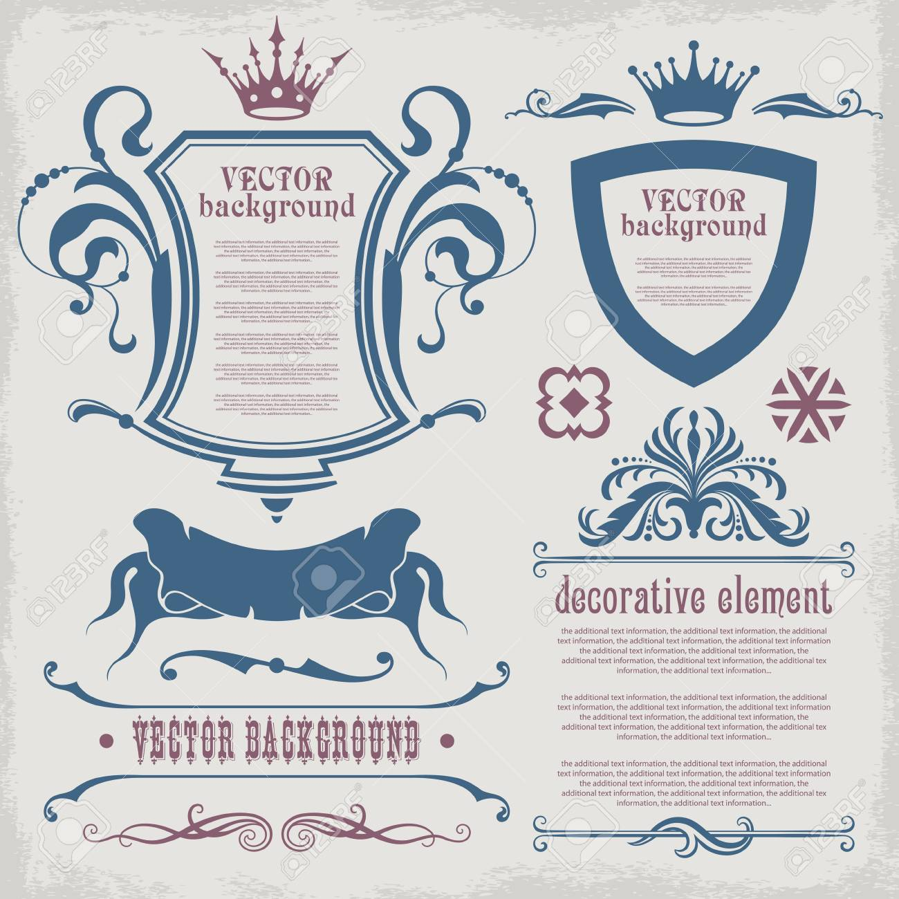 Set of decorative elements for the design of the text. Stock Vector - 13735181