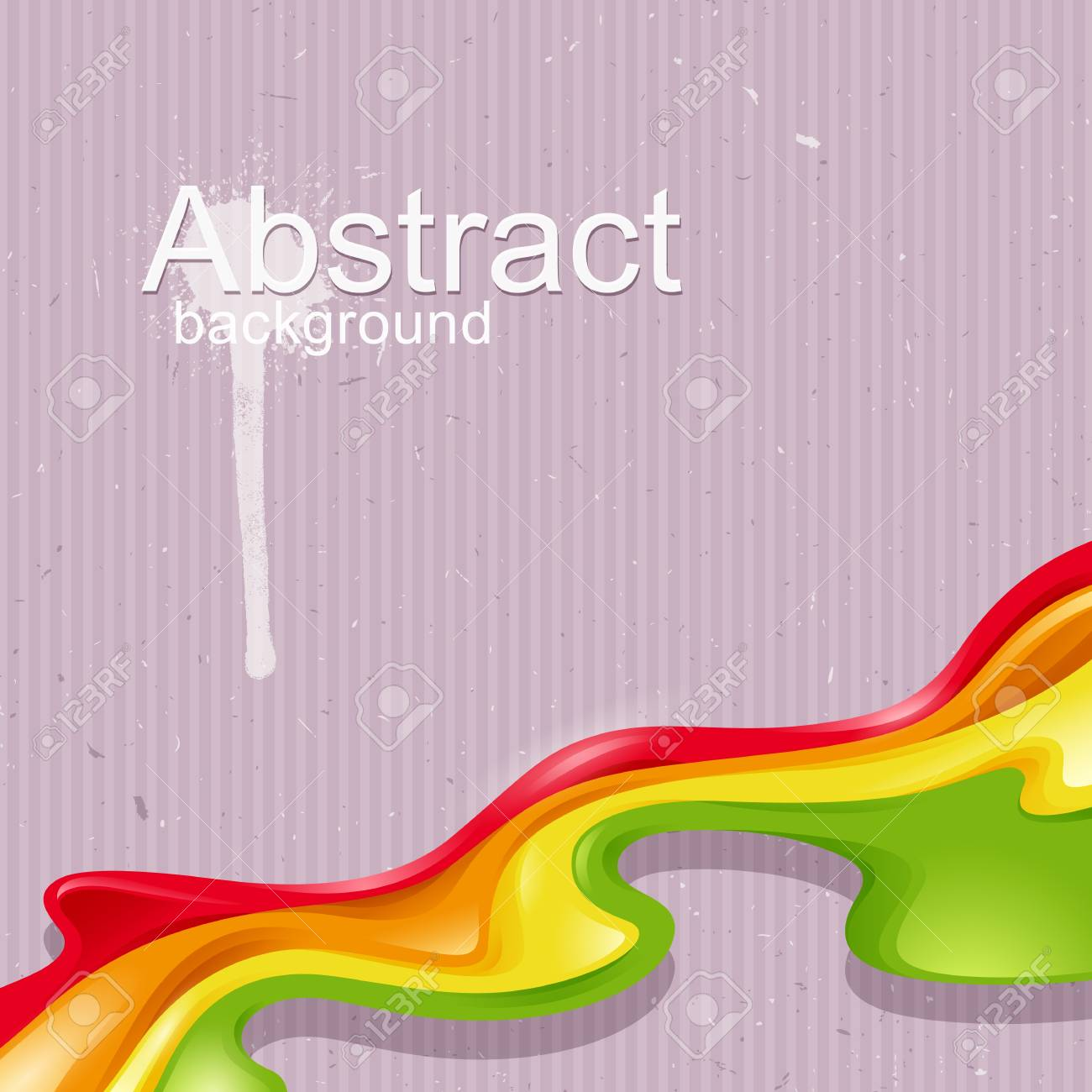 Vector abstract design with colored waves Stock Vector - 18217472