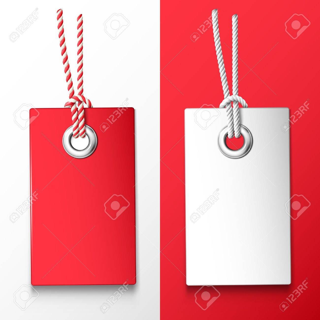 Deux étiquette de prix rouge et blanc Banque d'images - 18839359