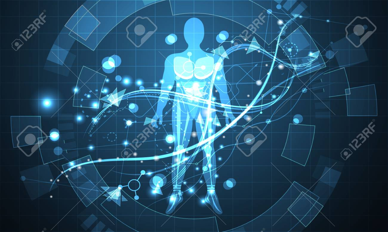 96283420-abstract-technology-futuristic-human-digital-concept-future-world-hi-tech-digital-modern-on-dark-blu Cinco Tecnologias Que Estão Mudando o Mundo