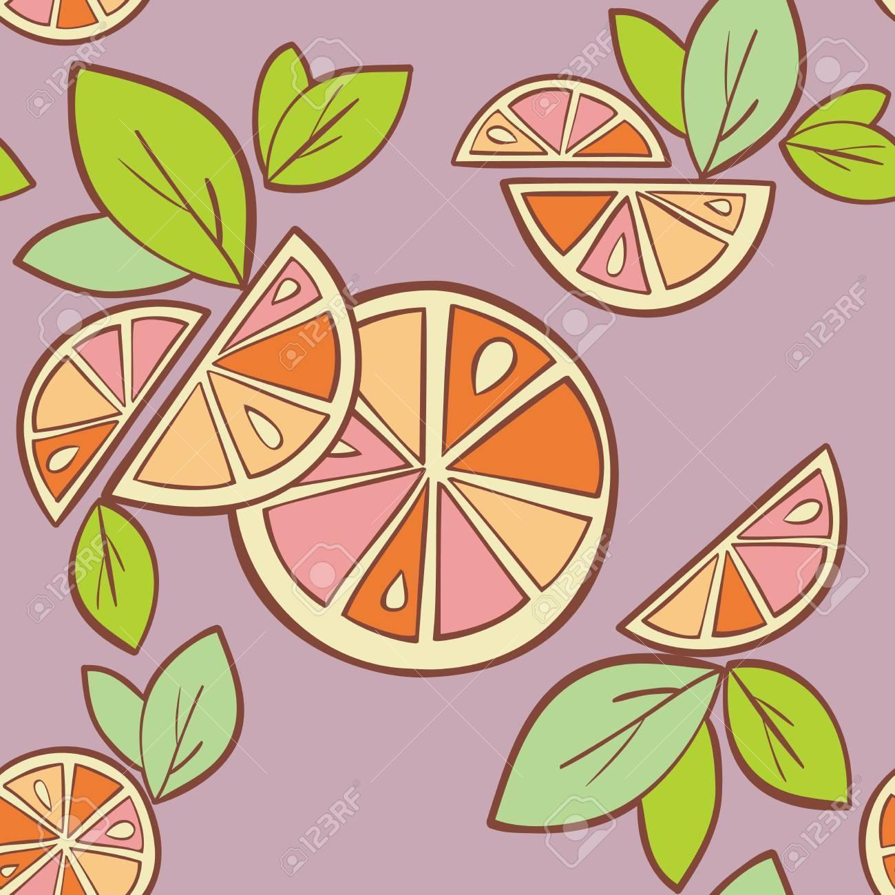orange citrus bright Seamless pattern background Stock Vector - 14607116