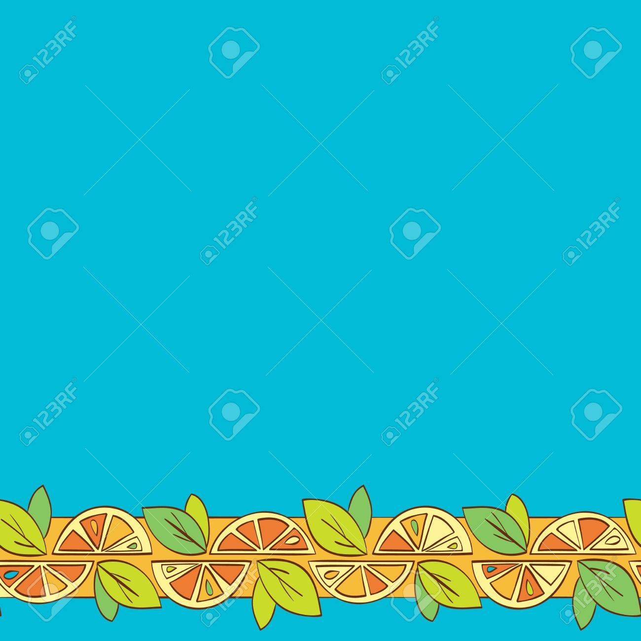 orange citrus bright Seamless pattern background Stock Vector - 14607119
