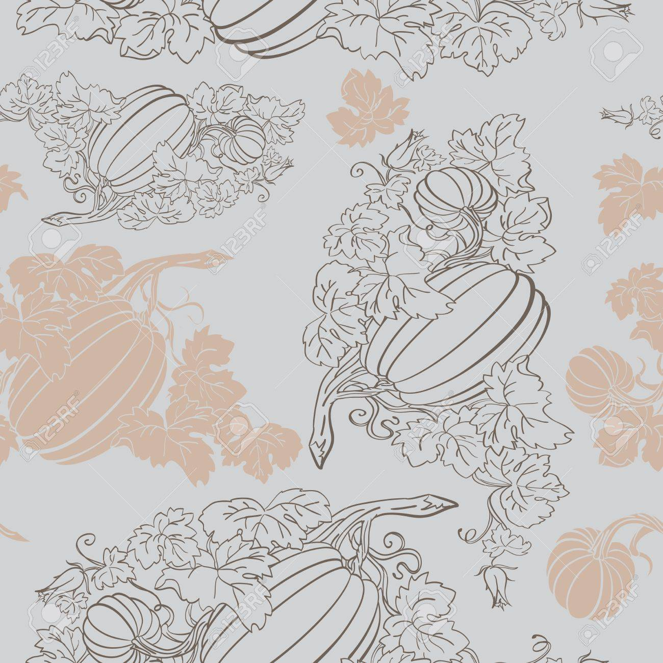 Pumpkin Background seamless pattern Stock Vector - 14676008