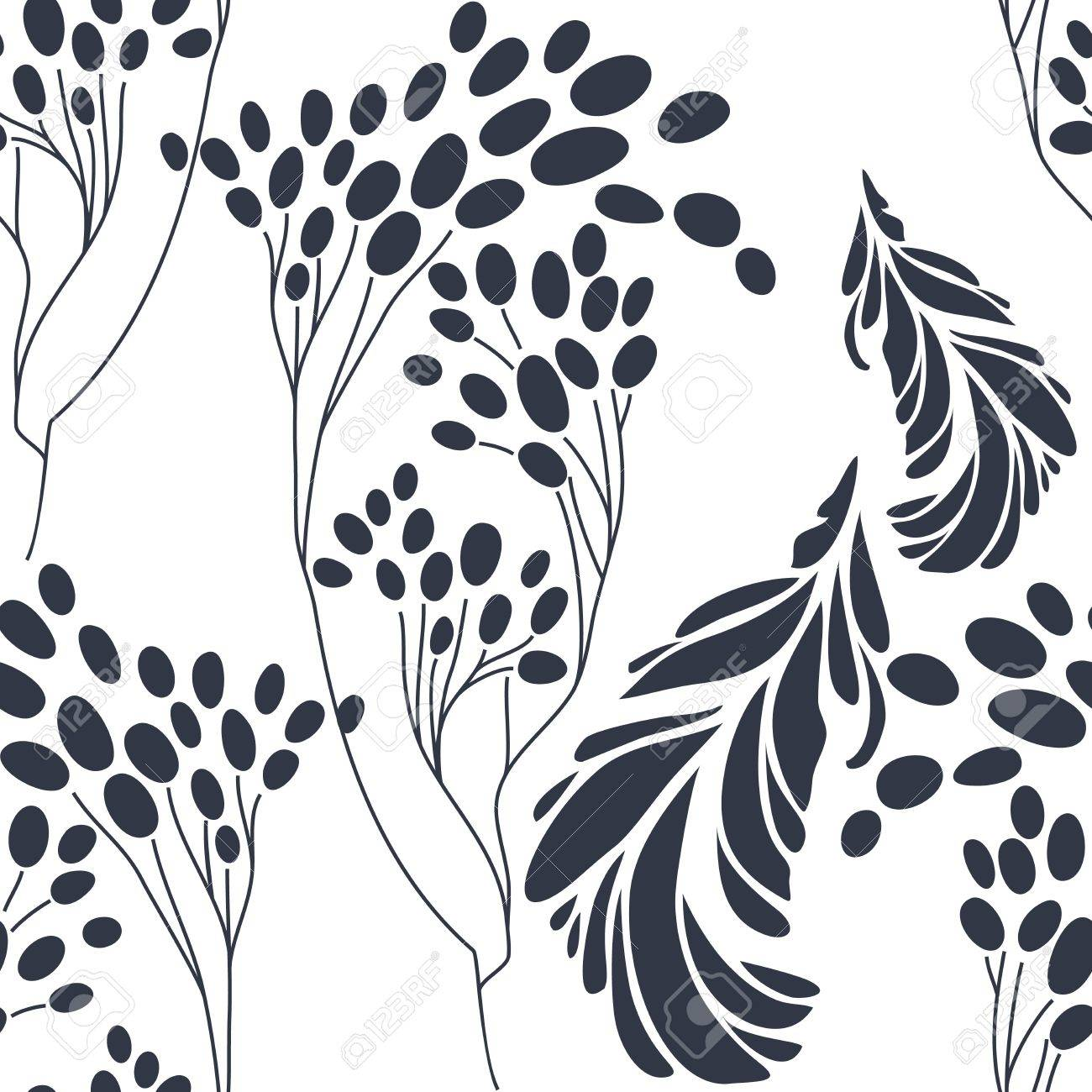 Vintage floral seamless pattern with hand drawn flowers Stock Vector - 17024592