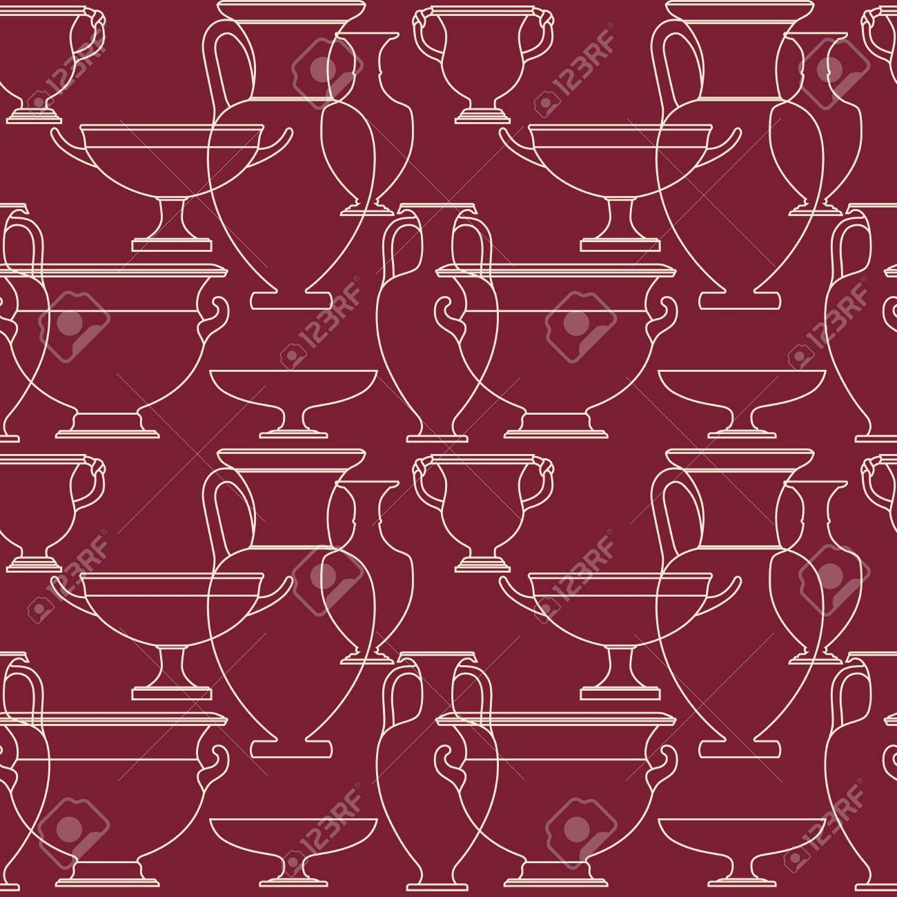 Ceramic seamless pattern. Ethnic national Greek style background Stock Vector - 17097009